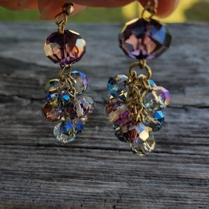 🆕 Faceted Multi-colored Beaded Earrings